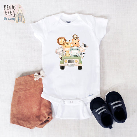 Cute Safari Baby Onesie®, Unisex Baby Clothes