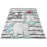Baby Blanket - Toddler Blanket - Baby Girl Blanket - Unicorn Birtday Gifts