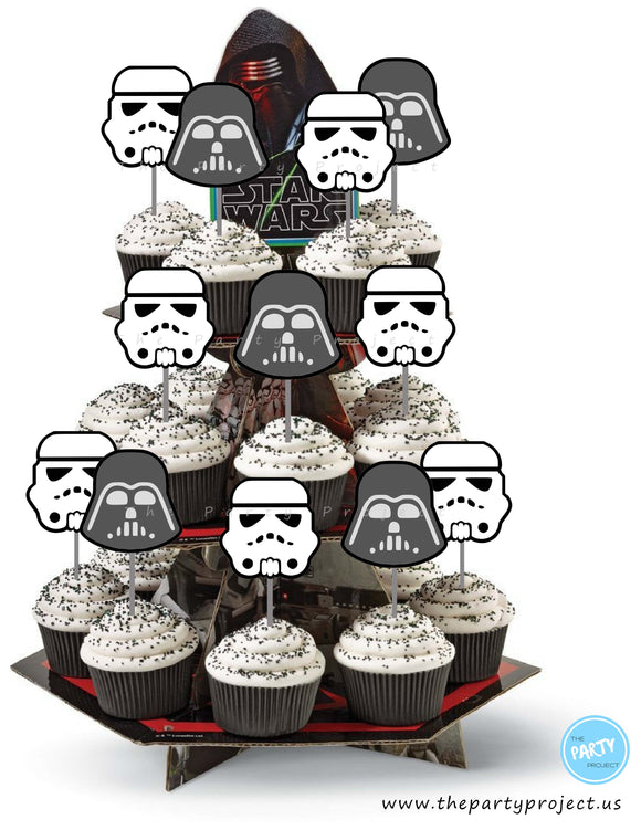 The Party Project | Star Wars party printables - Darth Vader and Stormtrooper cupcake toppers!
