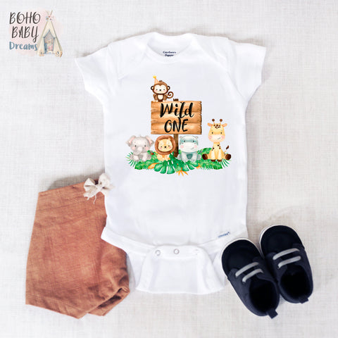 Wild One Baby Onesie®, Safari Baby Clothes