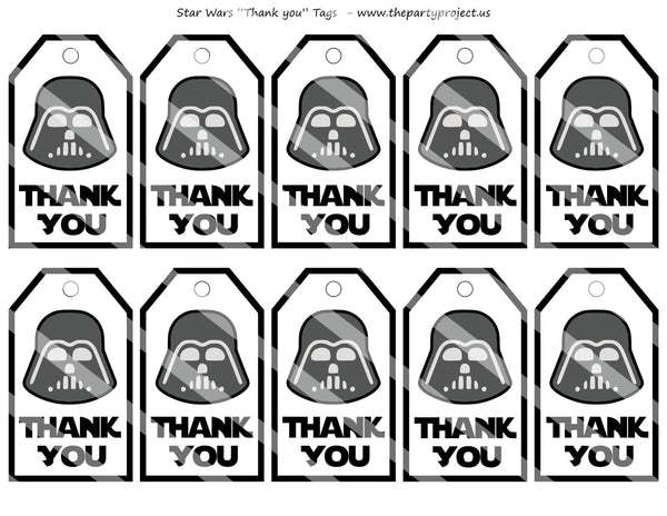 Imprimibles festa Star Wars | Darth Vader party ideas | Printables thank you tags