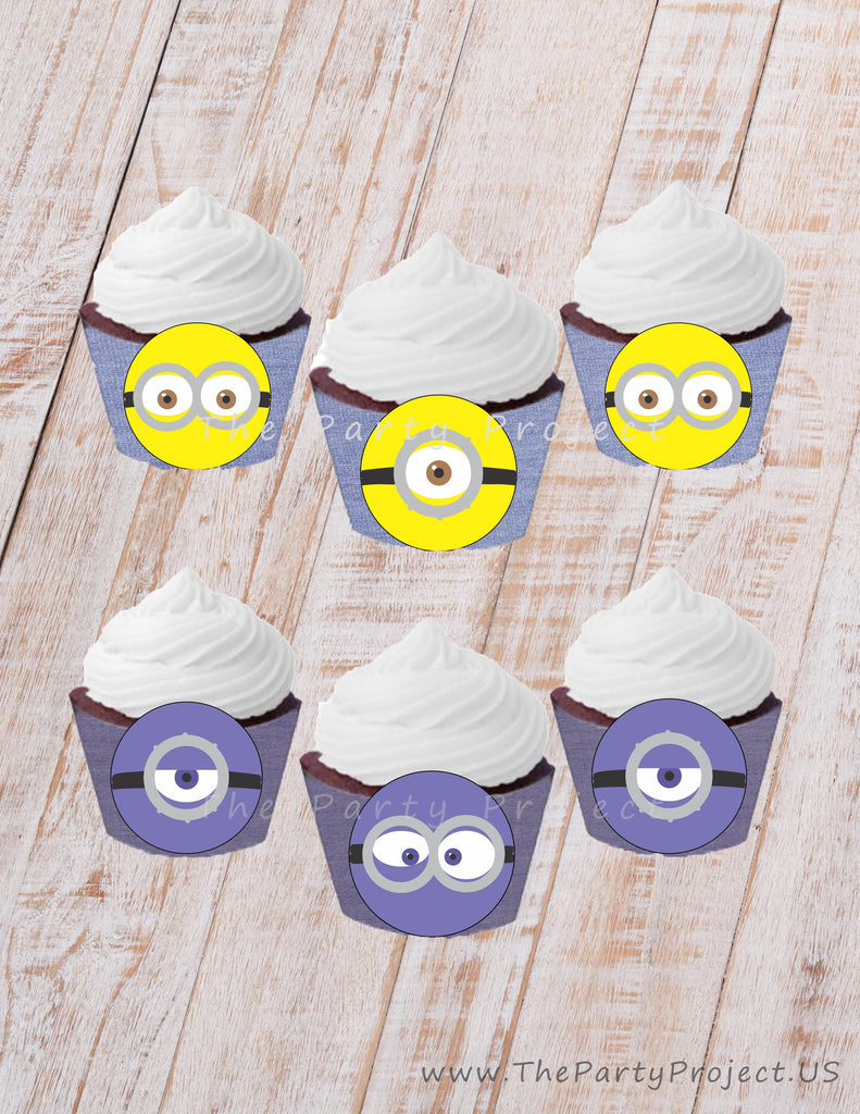 THE PARTY PROJECT | Minion printable cupcake wrappers