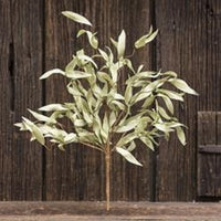 Flocked Herb Leaves Bush - 24""