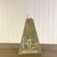 Faith Can Move Mountains - Statement Sign DIY Kit