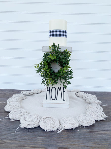 Farmhouse Style Chunky Wood Pillar  - DIY Kit