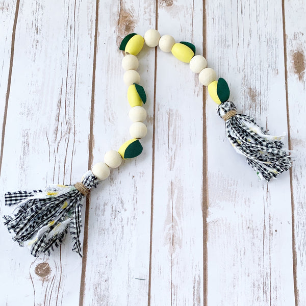 Lemon Wood Bead Garland - DIY Kit