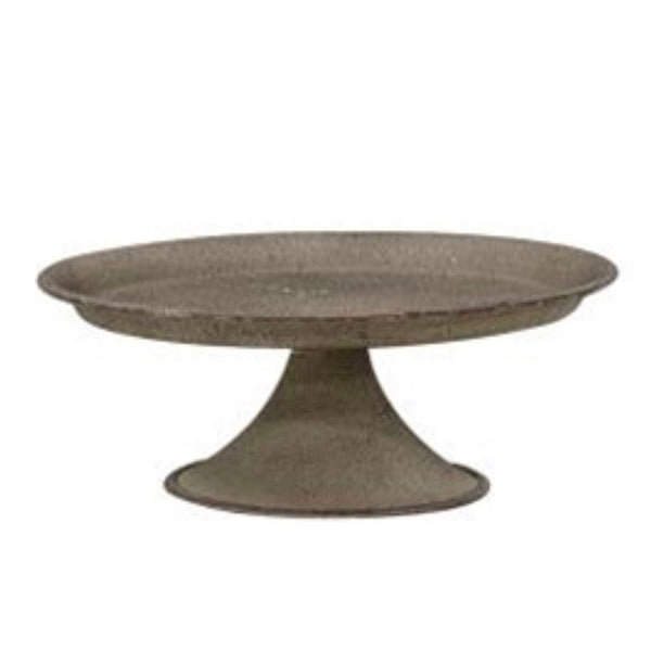 Textured Gray Metal Pillar Tray