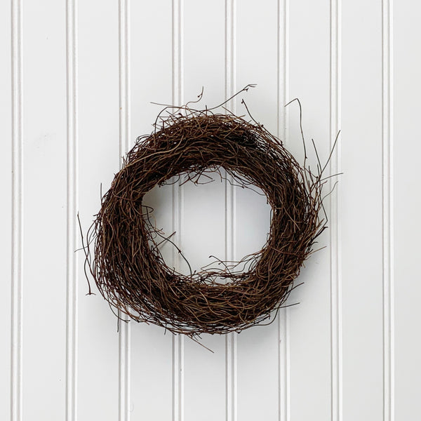 Angel Hair Vine Wreath - 8""