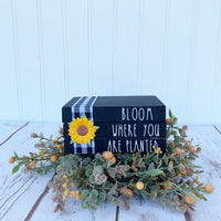 "Sunflower Mini Book Stack ""Bloom where you are planted"" - DIY Kit"