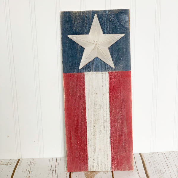 Patriotic Barn Wood Plank DIY Kit