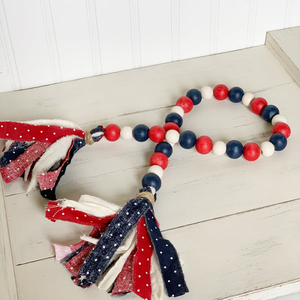 All American Wood Bead Garland DIY Kit
