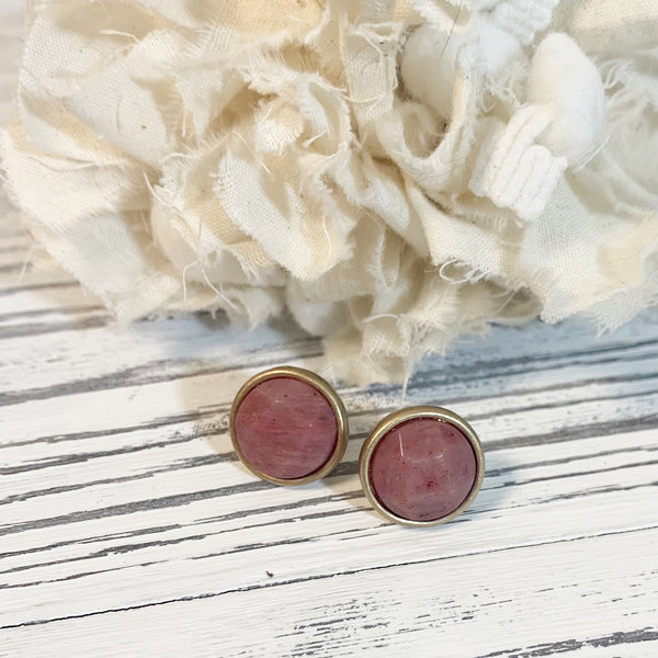 Blush Stud Earrings