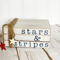 Stars and Stripes Mini Book Stack DIY Kit