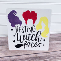"Sassy Halloween Shelf Sitter - ""Resting Witch Face"" DIY Kit"