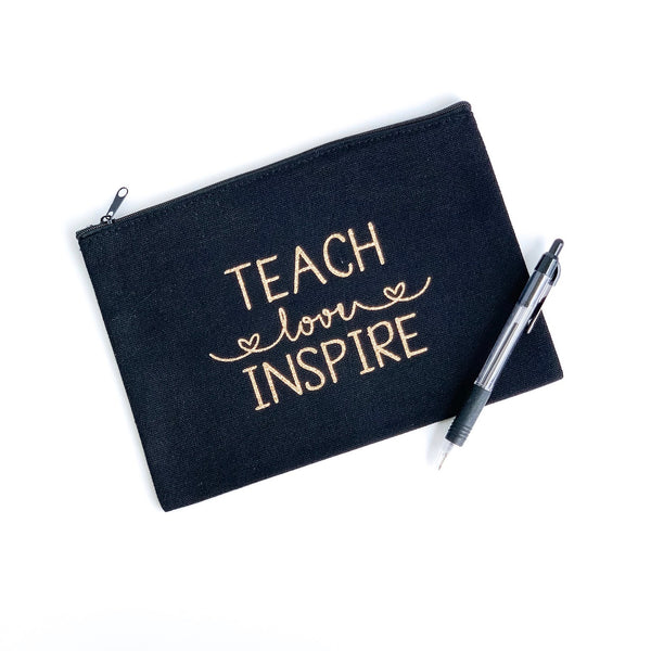 Accessory Pouch - Teach, Love, Inspire