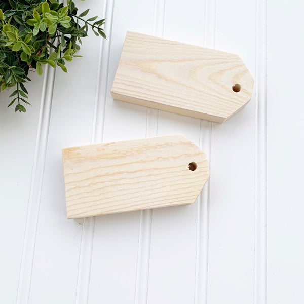 Mini Wood Tag Set - DIY Wood Blank