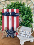 Stars and Stripes Mini Book Stack - Patriotic Decor