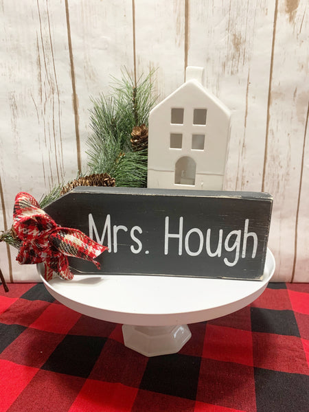 Personalized - Rustic Wood Gift Tag Shelf Sitter