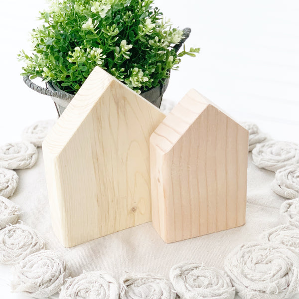 Chunky House Set - DIY Wood Blank
