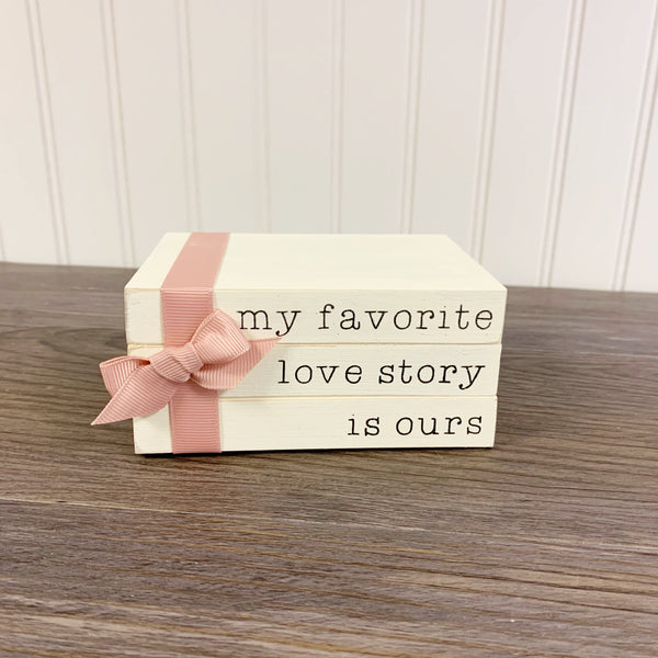 My Favorite Love Story is Ours - Mini Book Stack DIY Kit