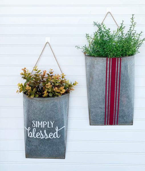 Farmhouse Style Metal Hanging Pockets - DIY Kit