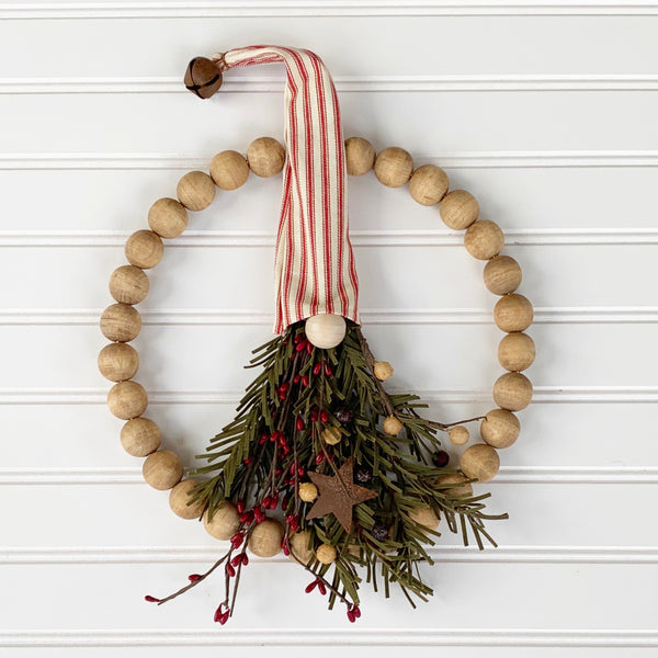 Festive Gnome Beaded Wreath - DIY Kit