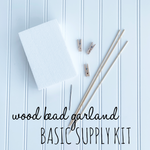 Wood Bead Garland Basic Supply Kit