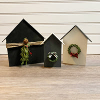 "Gather or Gift:  ""It Takes A Village"" Wooden house kit for 5"
