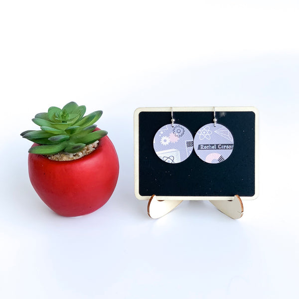 Science Rules! Vegan Leather Circle Earrings - Limited Edition