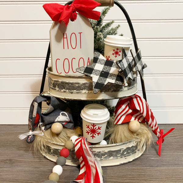 Hot Cocoa Tiered Tray Bundle - DIY Kit