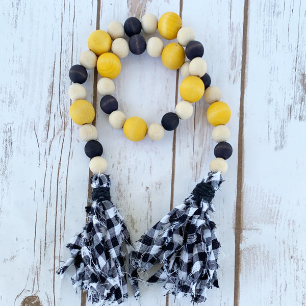 Sunflower Inspired Wood Bead Garland - DIY Kit