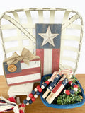 Wood Block Flag - Patriotic Decor
