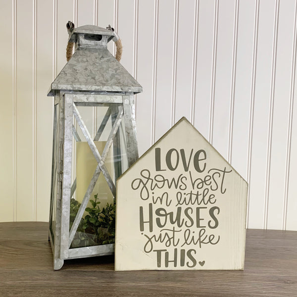 Love Grows Big in Little Houses - DIY Kit