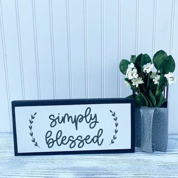 Simply Blessed - Seasonal Interchangeable Sign DIY Kit