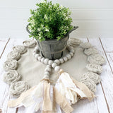 Farmhouse Neutral Wood Bead Garland - DIY or BIY