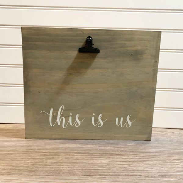 """this is us"" Photo Display - Single Kit"