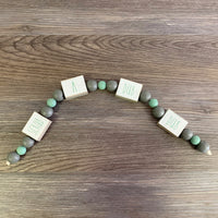 Scrub-A-Dub-Dub Wood Bead Garland DIY Kit