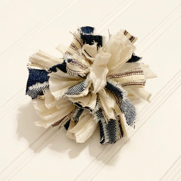 Farmhouse Blue Fabric Pom Pom DIY Kit