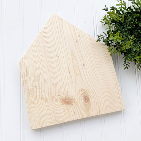 "Wood house 11"" - DIY Wood Blank"