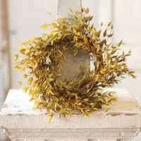 Velvet Ash Wreath/Candle Ring - Moss