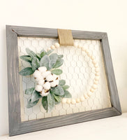 Farmhouse Wood Bead Wreath - DIY Kit