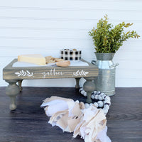 "Chunky Farmhouse Pedestal ""Gather"" - DIY Kit"