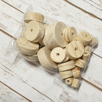 Farmhouse Wood Bead Carrot Set - DIY