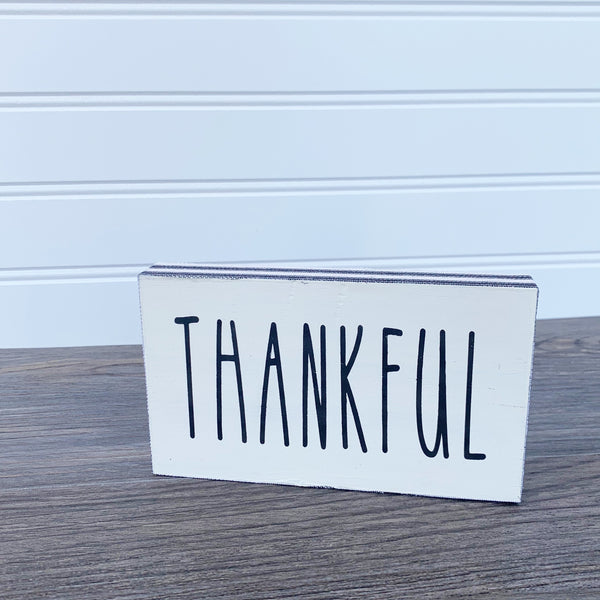 Thankful Tiered Tray Sign/Shelf Sitter