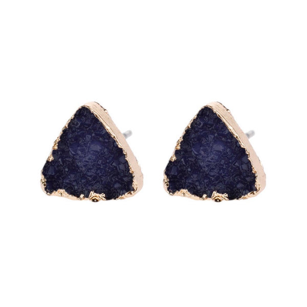 Navy Triangle Druzy
