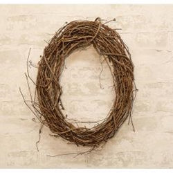 Oval Grapevine Wreath - 21""