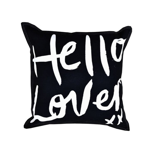 THE HOME COLLECTIVE hello lover cushion black
