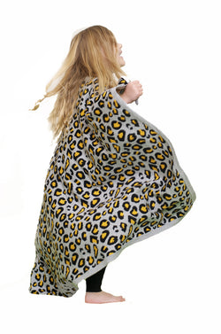 KIDFOLK leopard blanket grey