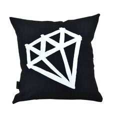 THE HOME COLLECTIVE mini diamond cushion black