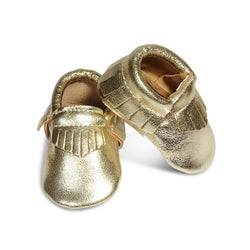 HUXBABY leather moccasins gold
